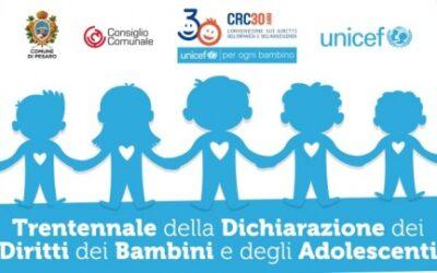 20 NOVEMBRE 2019 – TRENTENNALE Convenzione sui diritti dell'infanzia e dell'adolescenza